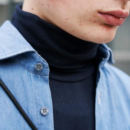 cuello camisa vaquera