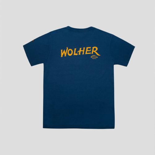 camiseta azul wolher